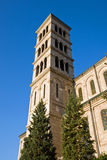 Tower of the Liebfrauenkirche in Zurich Stock Images