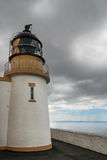 The tower of lighthouse complex at Stoer Head, Scotland. Stock Photography