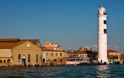 Tower lighthouse on Murano island. Venice. stock photo