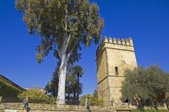 Tower of lions. Alcazar of Cordoba. The alcazar de los Reyes Cri Royalty Free Stock Images