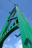 Tower of Lions Gate Bridge Royalty Free Stock Images