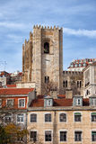 Tower of the Lisbon Cathedral Stock Photo