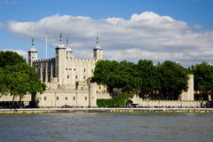 Tower of London. The Tower of London as seen from the South Bank of the river Thames in London stock images
