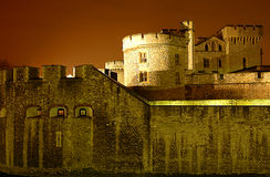 Tower of London. The tower of london at night time Royalty Free Stock Photo