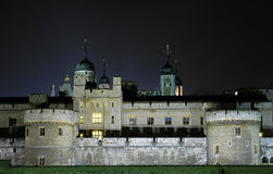 Tower of London. The tower of london at night time Stock Photo