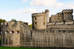 The Tower of London. Medieval castle and prison Stock Photos