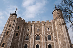 Tower of London. The Tower of London, England, against a blue sky Stock Photo