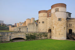 Tower of London. The Tower of London fortress castle, taken in early summer evening, England, United Kingdom Royalty Free Stock Photos