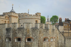 Tower of London. The Tower of London fortress castle, taken in early summer, England, United Kingdom Stock Image