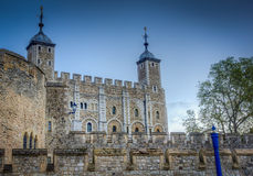 Tower Of london. Image of the tower of london showing Battlements Stock Photos