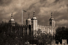 The Tower of London. The White Tower of London stock image