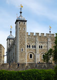 The Tower of London. View of the Tower of London with a clear sky background Stock Photography