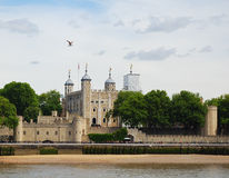 The Tower of London. A view of the Tower of London from the South of the Thames Stock Photography