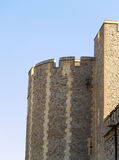 Tower of London. A detail of the Tower of London, one of the most touristic places in London royalty free stock image