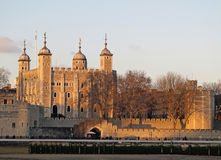 The Tower of London. By the river Thames stock image