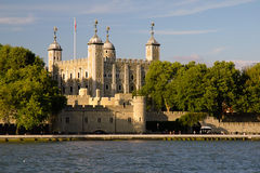 The Tower of London. From across the Thames River stock photography