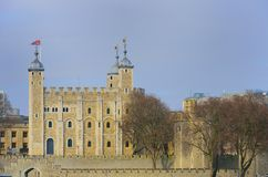 Tower of London across river Thames Stock Photography