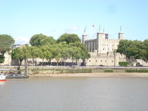 Tower of London. Across Thames River Royalty Free Stock Photography