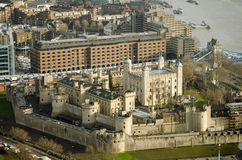 Tower of London, Aerial view Stock Photos