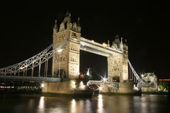Tower (London) Bridge At Night Stock Photography