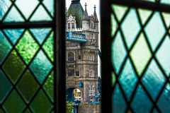 Tower of London Bridge from the White Tower Royalty Free Stock Photography