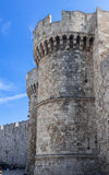 Rhodes Medieval Walls Stock Photo