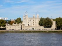Tower of London, Castle - Fortress located north bank River Thames, London stock photos