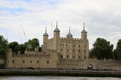 The Tower of London, castle stock image