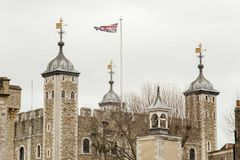 The Tower of London in London city Royalty Free Stock Photo