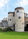 Tower of London. The Tower of London corner walls - medieval castle and prison Royalty Free Stock Photos