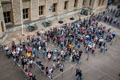 Tower of London Crowd stock photo