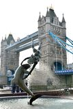 Tower of London with Dolphin statue Stock Images