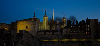 Tower of London at dusk. The Tower of London at dusk - fortress and museum of London Stock Photos