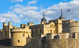 Tower of London in England. Part of the famous building in London, site of many bloody executions Stock Photo