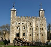 The tower of London in England royalty free stock photo
