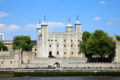 Tower of London. The Tower of London, England, UK, built by William The Conqueror in 1078 and is a Norman fortress and former royal palace standing on the north Royalty Free Stock Images