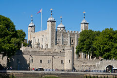 Tower of London. England, UK. View across the Thames royalty free stock image