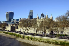Tower of London and The Gherkin Stock Images