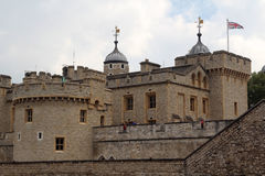 Tower of London. Her Majesty's Royal Palace and Fortress, known as the Tower of London, is a historic castle located on the north bank of the River Thames in Royalty Free Stock Photography