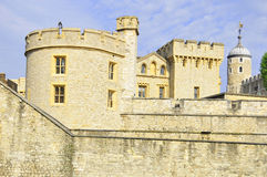 Tower of London. Her Majesty's Royal Palace and Fortress, more commonly known as the Tower of London, is a historic castle on the north bank of the River Thames Stock Photo
