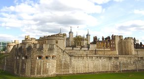 Tower of London. The Tower of London, a historic castle on the north bank of the River Thames in London Royalty Free Stock Photos