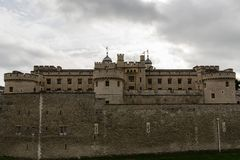 Tower of London in late October. England stock photography