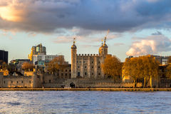 Tower of London located on the north bank of the River Thames in Stock Images