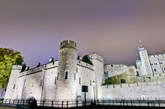 Tower of London at London, England. Tower of London on Thames river shore at London, England Stock Image