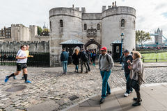Tower of London main gate or entrance, England, UK Stock Photos