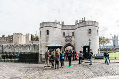 Tower of London main gate or entrance, England, UK Stock Photography