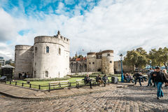 Tower of London main gate or entrance, England, UK Royalty Free Stock Photos