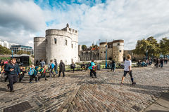 Tower of London main gate or entrance, England, UK Royalty Free Stock Photo
