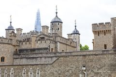 Tower of London, medieval defense building, London, United Kingdom. The castle was used as a prison from 1100 until 1952 Royalty Free Stock Photography