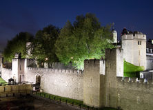 The Tower of London at night Royalty Free Stock Image